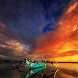 My View  by Choky Ochtavian Watulingas - Landscapes Beaches ( clouds, seashore, waterscape, jukung, reflections, sunrise, seascape, skies )