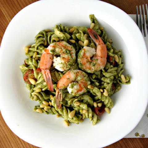 Spinach, Shrimp, & Mascarpone Pasta Salad