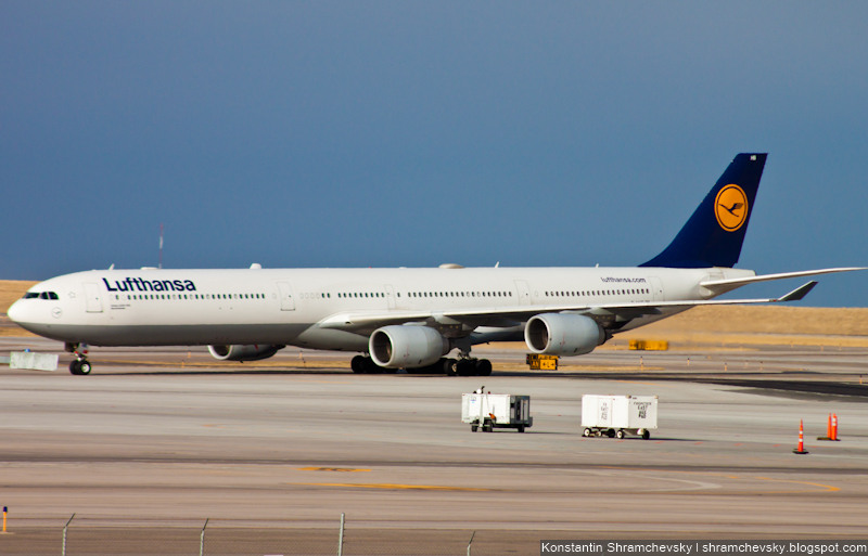 Lufthansa D-AIHB Bremerhaven Airbus A340-600 340-642
