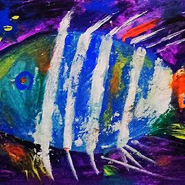 Gmo  fish by Vanja Škrobica - Painting All Painting