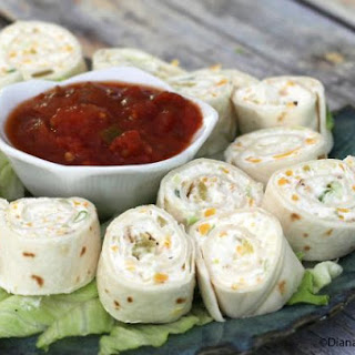 Tortilla Pinwheels with Cream Cheese Filling