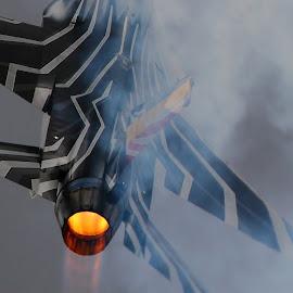 Fire by Marcin Chmielecki - Transportation Airplanes