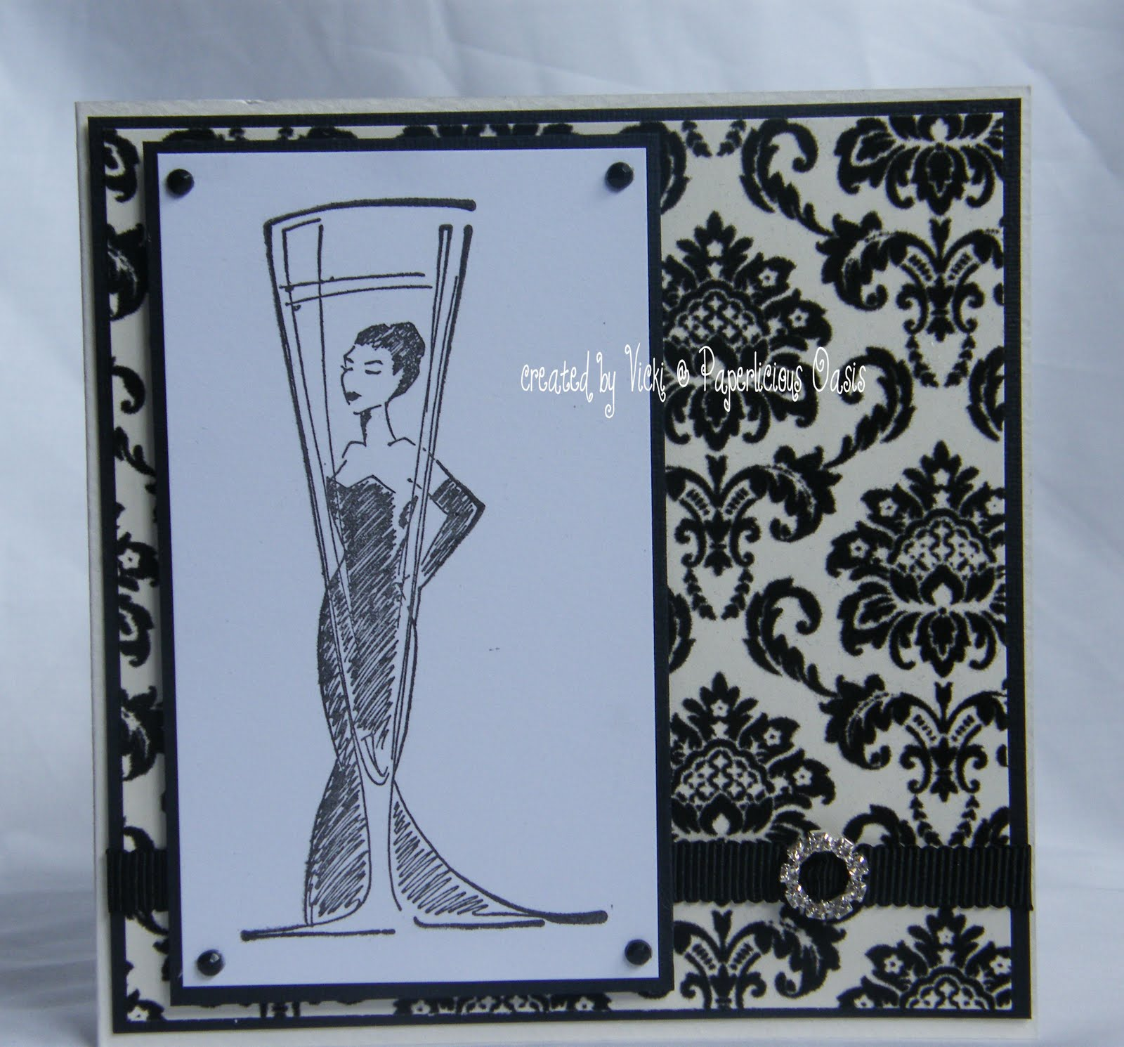 wedding scrapbook black damask