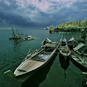 Kampoeng Berakit by Alit  Apriyana - Transportation Boats ( bintan, indonesia, orang sampan, boat )