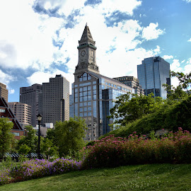 Boston by Cal Brown - City,  Street & Park  Skylines ( skyline, travel location, cityscape, travel photography, boston skyline, boston mass, city,  )
