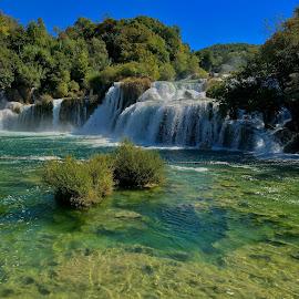 Krka Waterfalls by Ivica Skočić - Instagram & Mobile iPhone ( waterfalls, nature, croatia, krka, colours )