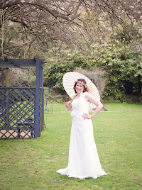 Lucie wearing wedding dress 'Grace'.