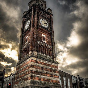 The Clock Tower by Matt Cooper - City,  Street & Park  Street Scenes