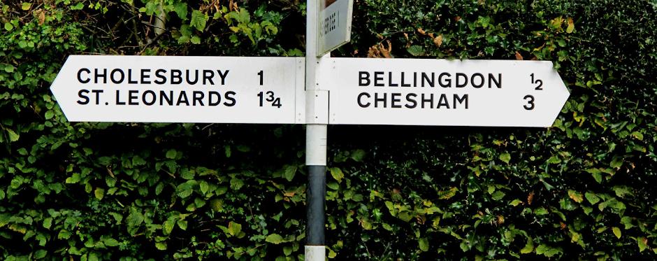 Parish road sign