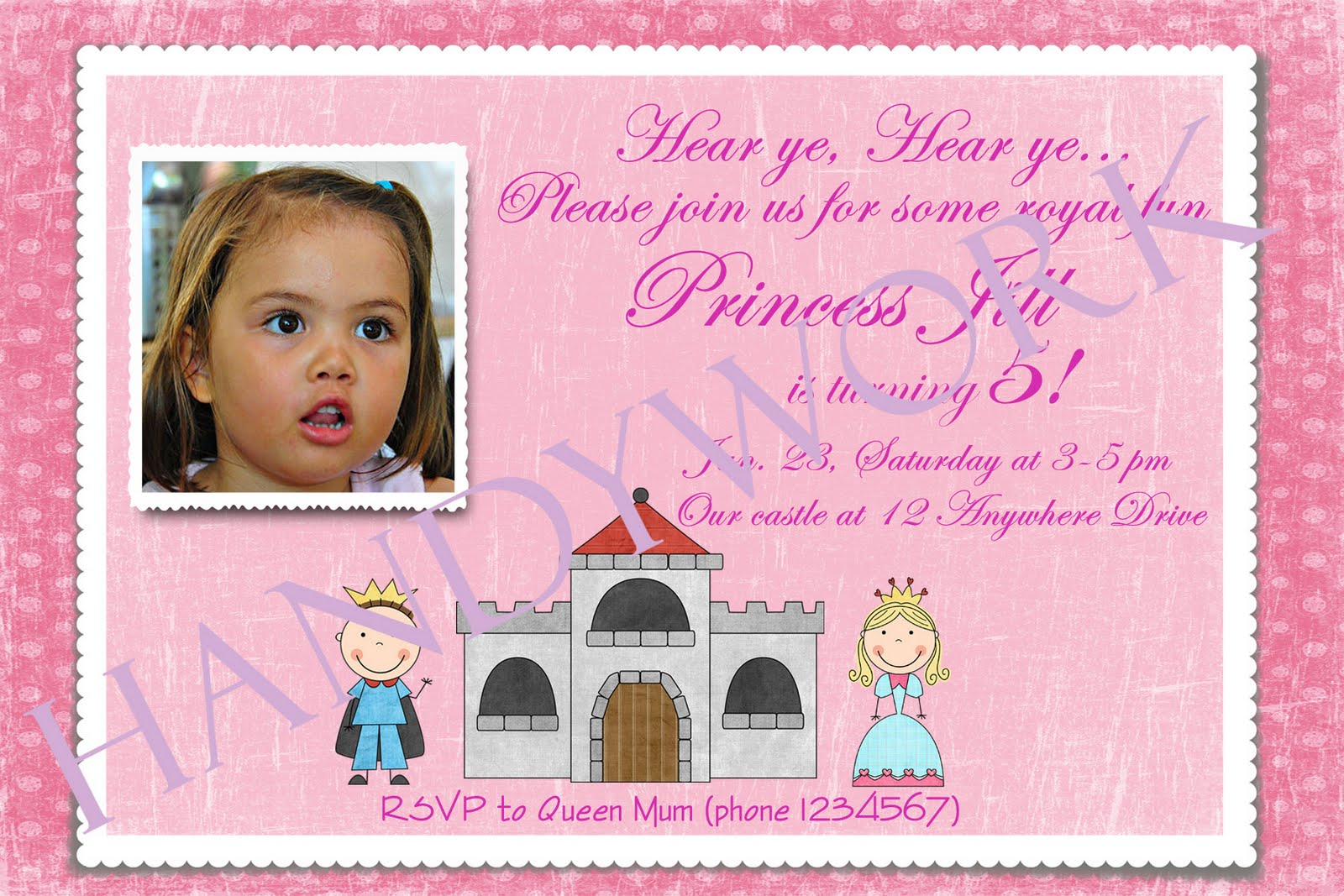 sample invitation card