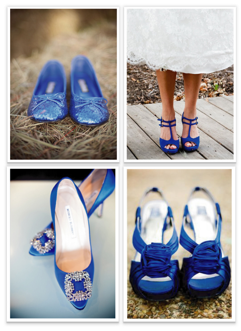 images of blue wedding shoes