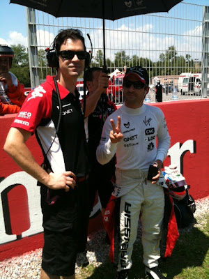 Тимо Глок peace и механик на Гран-при Испании 2011