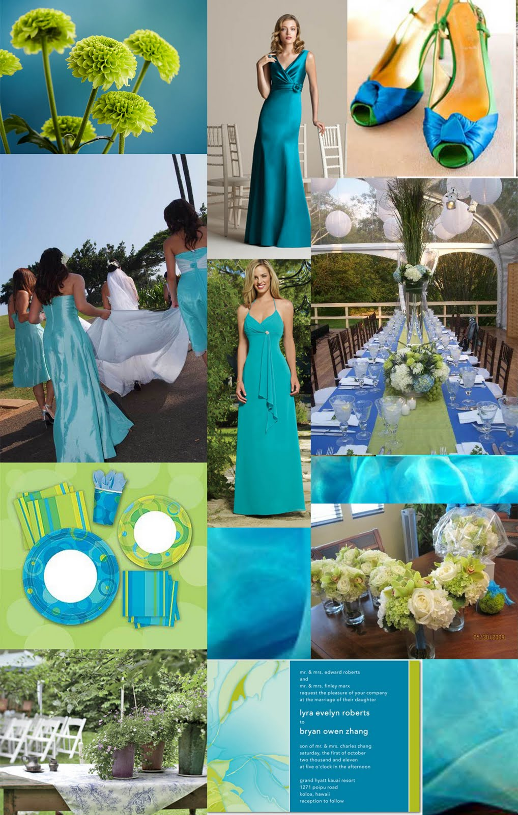 turquoise blue wedding