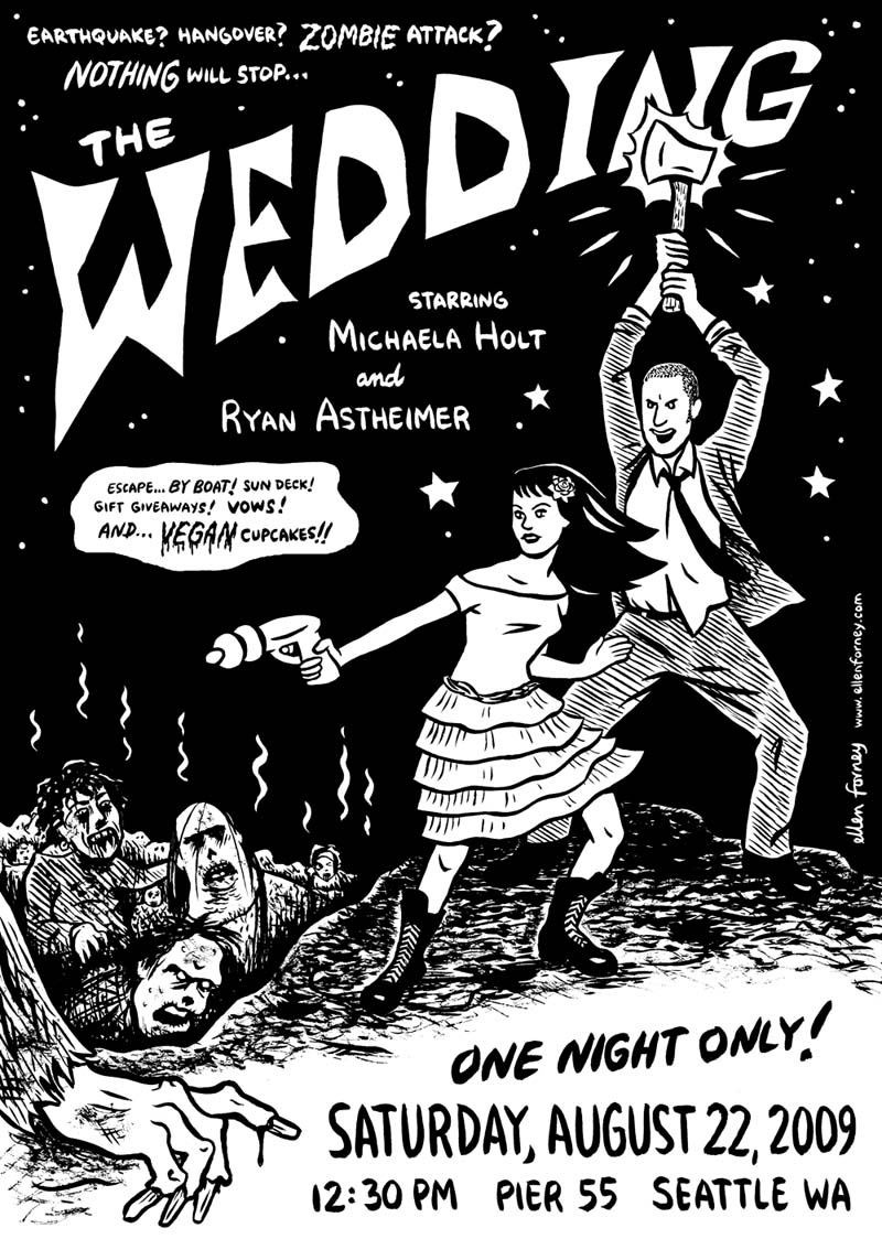 Zombie wedding invitations
