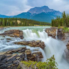 Athabasca Falls by Nick Johnson - Landscapes Waterscapes ( alberta, canada, waterfall, banff, athabasca )