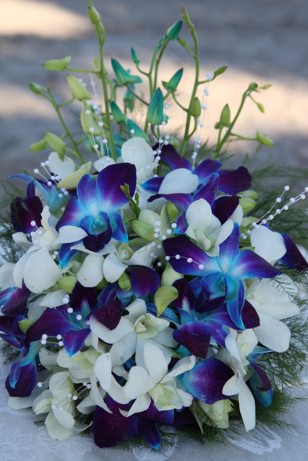 Tanieshas Blog Blue Orchid Bridal Bouquets