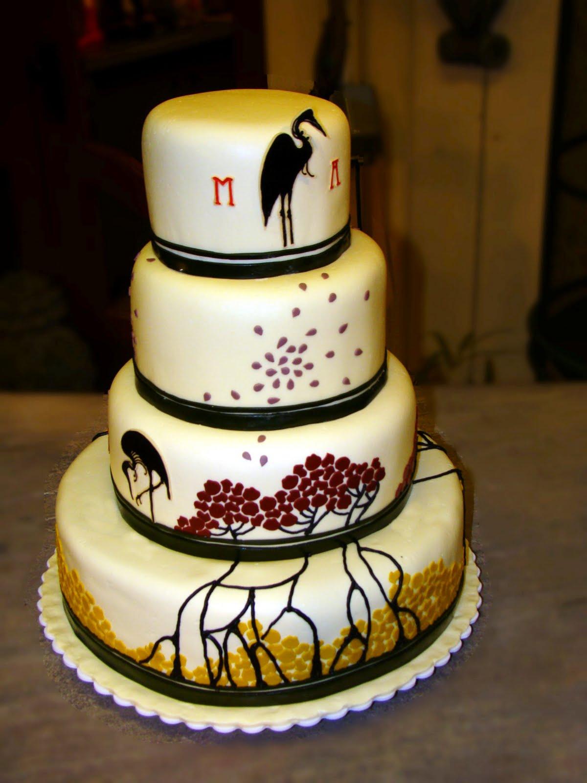 Mosaic Wedding Cake - This was