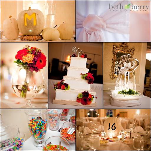 pumpkin wedding centerpieces