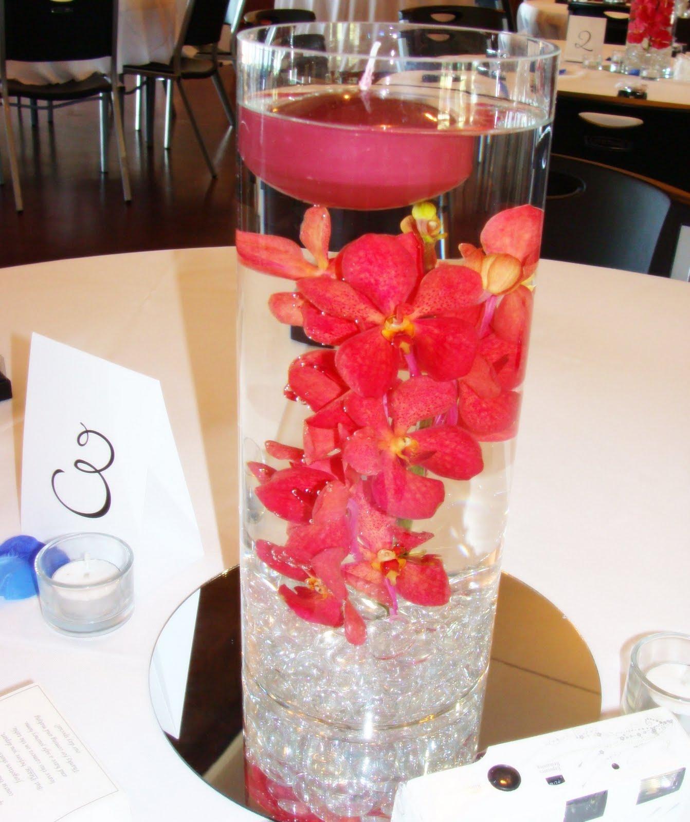 water wedding centerpieces