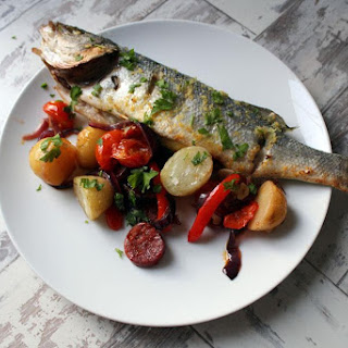 Oven Baked Summery Sea Bass