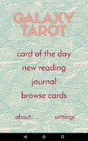Screenshot of Galaxy Tarot