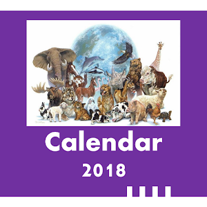 2018 Wildlife Calendar for PC-Windows 7,8,10 and Mac