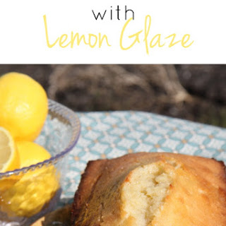 VVanilla Pound Cake with Lemon Glaze