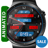 Download Black Metal LED HD Watch Face APK to PC