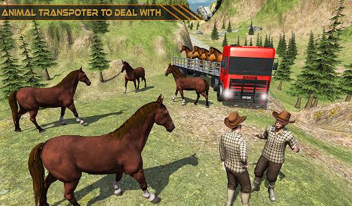 Horse Transport Truck Sim 19 -Rescue Thoroughbred screenshot 11