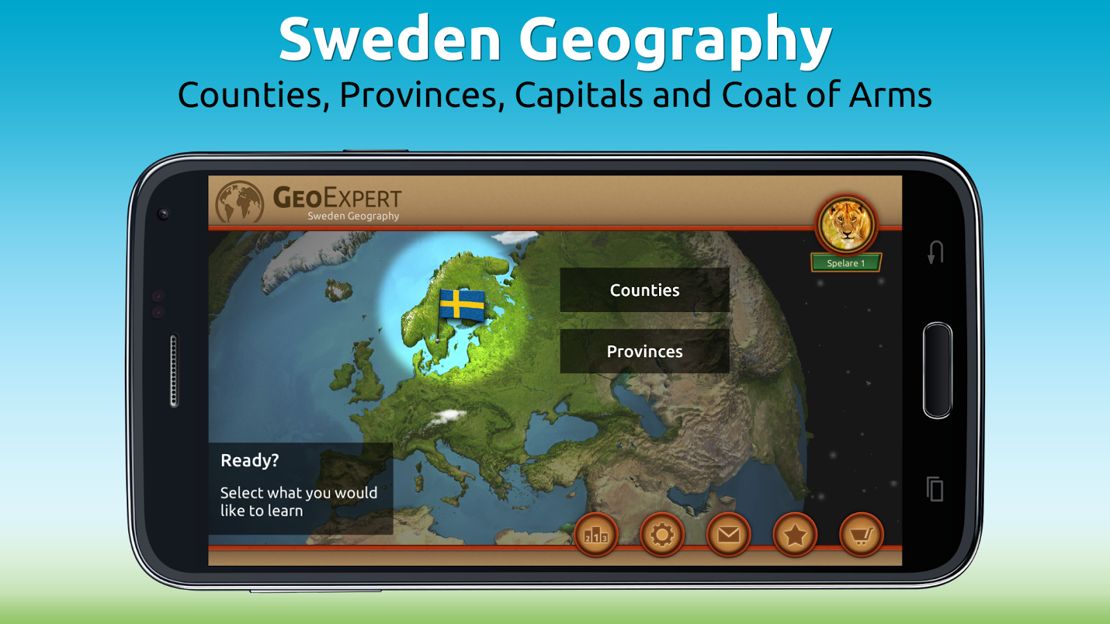 GeoExpert - Sweden Geography Screenshot