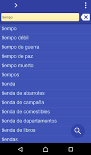 Spanish Somali dictionary - screenshot