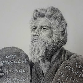 Moses by Alfonso Rahardja - Drawing All Drawing