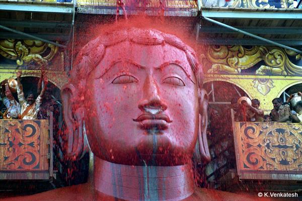 Mahamastakabhisheka of Lord Gomateshwara.