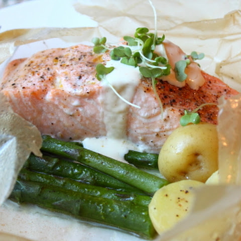Salmon in Parchment – Terrifyingly Easy