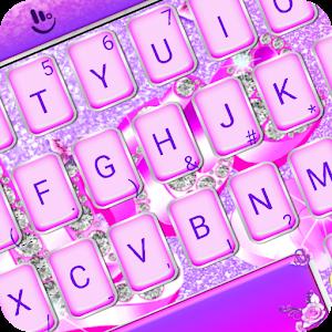 Purple Diamond Love Keyboard Theme For PC / Windows 7/8/10 / Mac – Free Download