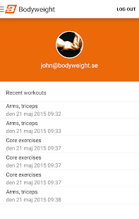 Bodyweight Training m Bändern Screenshot