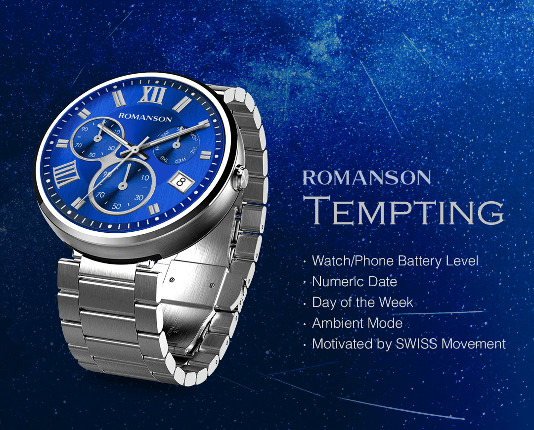 Tempting watchface by Romanson Screenshot 1