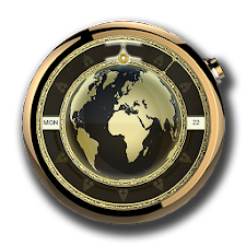 Executive Gold Earth Watchface