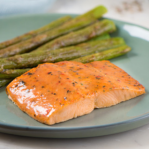 Signature Salmon with Roasted Asparagus and Balsamic Browned Butter