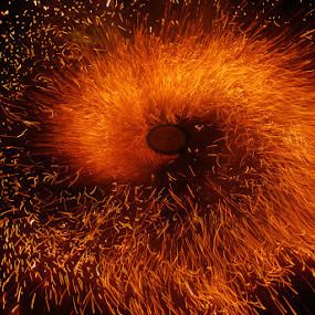 Fire Worm by Mervin Anto - Abstract Fire & Fireworks ( pwcfireworks, fireworks, fire )