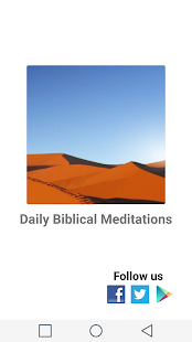 Daily Biblical Meditations - screenshot