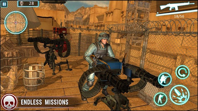 Desert Storm Grand Gunner FPS Game apk screenshot