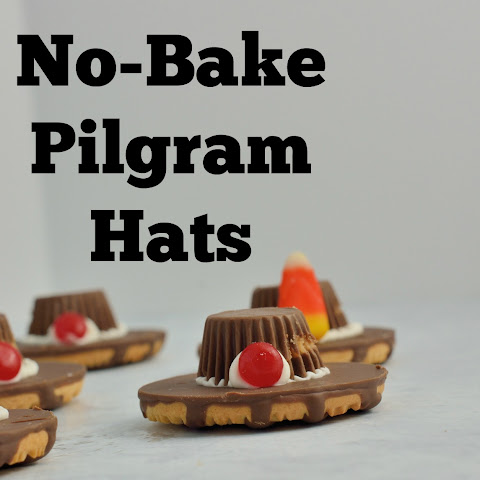 No-Bake Pilgrim Hat Cookies