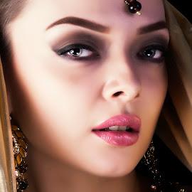 Beauty of Emotion by Muthu Krishna - People Fashion ( models, bridal portraits, makeup, beauty, portraits, bride, feelings, emotion,  )