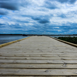 bridge to nowhere by Rasmus Thomsen - Landscapes Cloud Formations ( clouds, water, nature, see, pier )