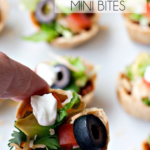 Taco Salad Mini Bites – a heathy hot sauce