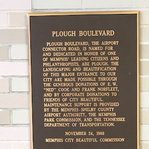 PLOUGH BOULEVARD PLOUGH BOULVARD, THE AIRPORT CONNECTOR ROAD, IS NAMED FOR AND DEDICATED IN HONOR OF ONE OF MEMPHIS' LEADING CITIZENS AND PHILANTHROPISTS, ABE PLOUGH. THE LANDSCAPING AND ...