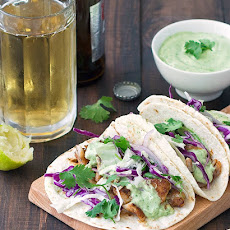 Blackened Fish Tacos with Avocado Sauce