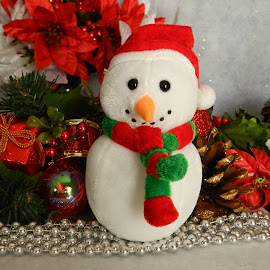 Christmas Snowman by Karen Carter - Public Holidays Christmas ( decoration, christmas, snowman )