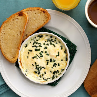 Baked Eggs with Parmesan and Chives